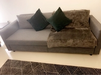 Used Sofa Bed (Dark Grey) Almost New - 600aed in Dubai, UAE