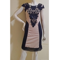 Used Black and browb dress:Small size in Dubai, UAE