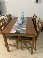 Used IKEA table with 4 chairs, cushions ... in Dubai, UAE
