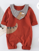 Used Dinosaur Jumpsuit with Bib in Dubai, UAE