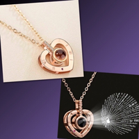 Used Plated Projection Necklace Rose Gold in Dubai, UAE