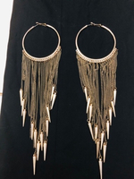 Fashion earring and trendy hand bag