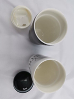 ceramic cup Black and white Together