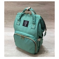 Used New diaper bag in green color  in Dubai, UAE