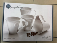Symphony 4 pcs 350ml mug set
