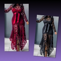 Used Formal Lace Dress/ Large  in Dubai, UAE