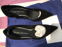 Used Stuart Weitzman- black pump shoes in Dubai, UAE