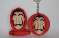 Used Money Heist Dali Mask Keychain/Pin in Dubai, UAE