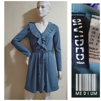 Used H & M blue ruffle dress-medium size in Dubai, UAE