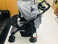 Used Baby Stroller carrier pram 6m-3yrz grey in Dubai, UAE