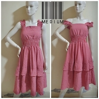 Used red checkered dress-medium size in Dubai, UAE