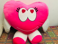 Used Big and huge heart shaped soft toy  in Dubai, UAE