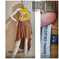Used Yellow floral crop top/bershka skirt in Dubai, UAE