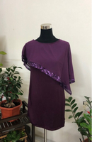 Purple Blouse with Sequins Accents