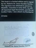 Used Pablo Escobar Special Edition Book!No126 in Dubai, UAE