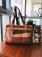 Used Patch Leather Tote Bag Like New in Dubai, UAE