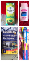 Used New toothbrush,lotion,oil & dictionary  in Dubai, UAE