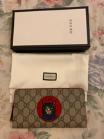 Used Authentic Gucci wallet with embroidery  in Dubai, UAE