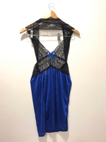 NEW Nightgown Size M Blue and Black