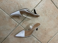 Used Zara white heels in Dubai, UAE