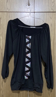 Used Black top with sequin size large in Dubai, UAE