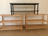 Used 3 shoe racks wooden made  in Dubai, UAE