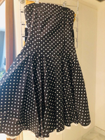 Used Stunning strapless dress with polka dots in Dubai, UAE