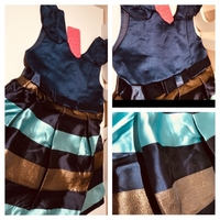 Used Girls party dress blue size 4-5 years  in Dubai, UAE