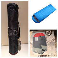1 STATION PORT tent, 2 sleeping bags