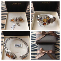 "Used Amber ""APART"" Bracelet And Dragonfly brooch in Dubai, UAE"