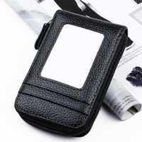 Used Card holder genuine leather black  in Dubai, UAE