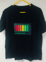 LED lights voice Activated T-ShirtXL New