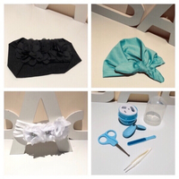 Used 2 Baby headband&1 baby cap&nail set in Dubai, UAE