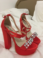 Used Red woman's shoes in Dubai, UAE