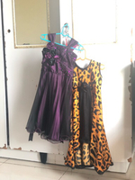Used Purple rose beading gown & cheetah print in Dubai, UAE