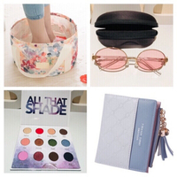 Used Purse-cosmetic bag+sunglasses but read! in Dubai, UAE