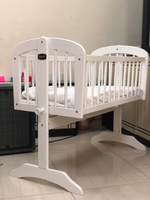 Used Juniors wooden baby cradle with mattress in Dubai, UAE