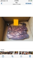 Used Fendi Metallic Pleated shoulder bag   in Dubai, UAE