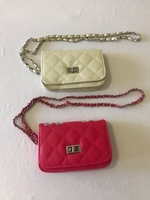 Used Clutch handbag pink & white  in Dubai, UAE