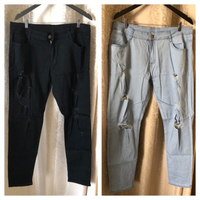 Used Men's jeans size XXL blue & black  in Dubai, UAE