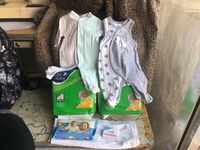 Used Finebaby diaper,sebamed bar,wipes clothe in Dubai, UAE