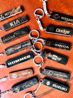 Car Brand marble stone keychains!Aed35