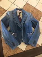Used Denim jacket, size 38 EU. Worn 1-2 times in Dubai, UAE