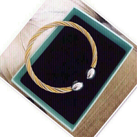 Used Bangles 14k Gold coated 💙 in Dubai, UAE