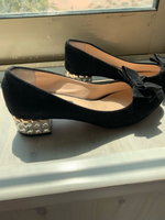 Used Black small heels 39  in Dubai, UAE