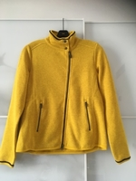 Used Knitted Yellow Fleece Jacket  in Dubai, UAE