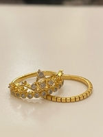 Used 2 in 1 Tiara ring gold plated size 7  in Dubai, UAE