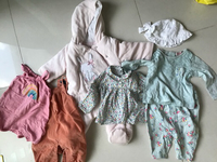 Used 7pcs baby flower dress,winter Mothercare in Dubai, UAE