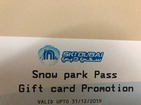 Used Ski dubai snow park 2 tickets pass in Dubai, UAE