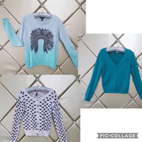 Used Bundle 3 pieces Top Cardigan  in Dubai, UAE